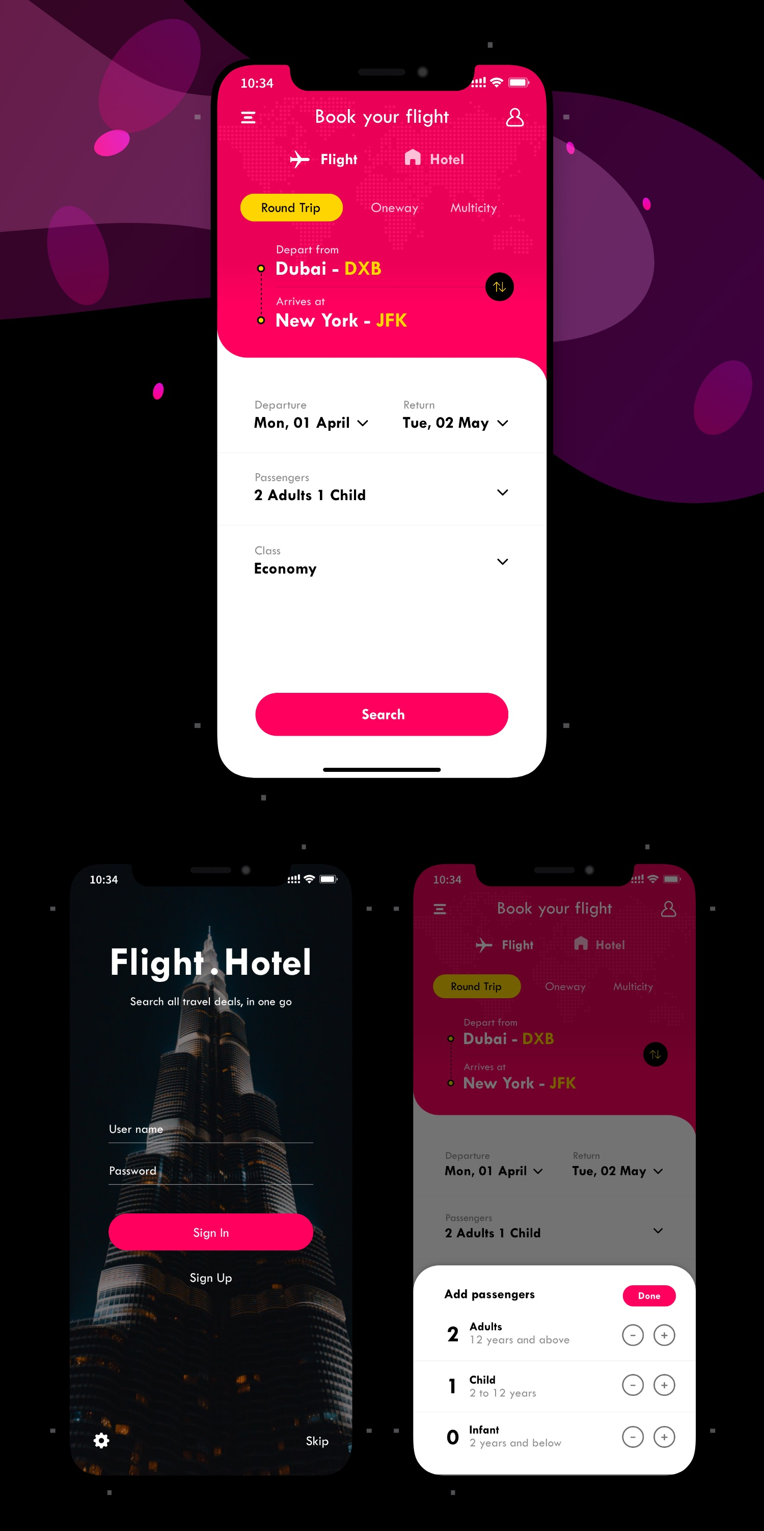 Flight Booking App UI/UX Design by www.iamrakesh.com | Life and Travel by Rakesh | UI/UX Designer | Vlogger
