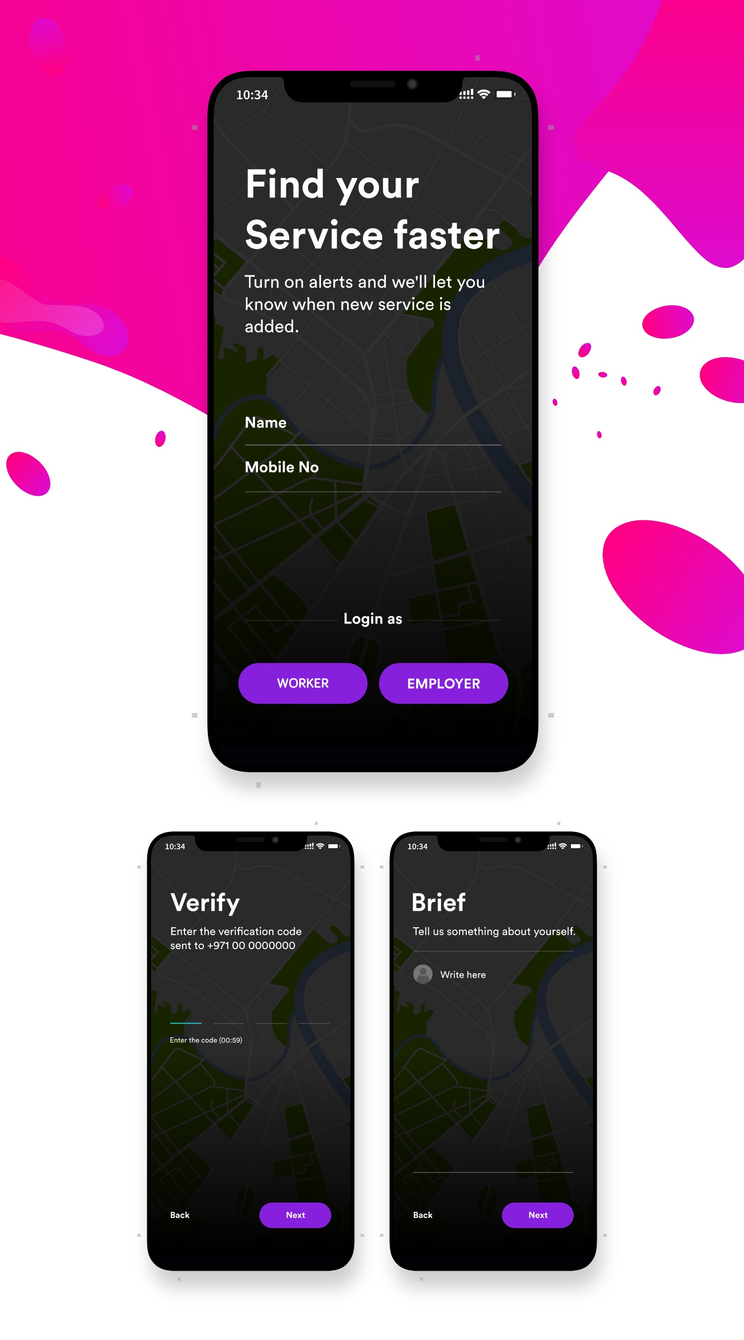 An app to find a worker in your locality UI/UX Design by www.iamrakesh.com | Life and Travel by Rakesh | UI/UX Designer | Vlogger